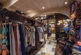Interior shot of back area of Cekcik shop in Valletta