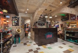 Interior shot of front area of Cekcik shop in Valletta
