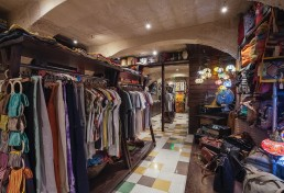 Interior shot of back area of Cekcik shop in Valletta