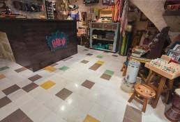 Interior shot of front area of Cekcik shop in Valletta