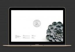 The Garden Studio website on macbook