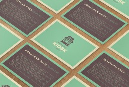 Mdina Kiosk business cards design layout