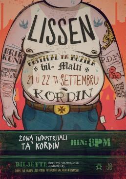 Lissen, festival ta Muzika bil- Malti poster design