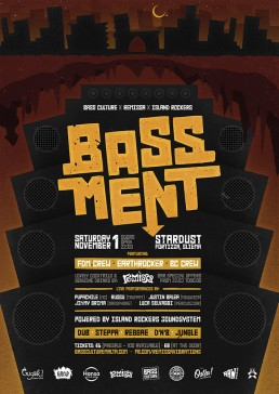 Bassment poster design for Bass Culture