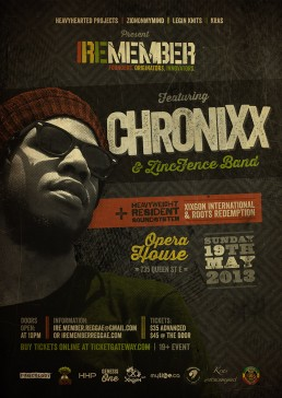 Iremember reggae event, Chronix and Zincfence band Toronto Canada