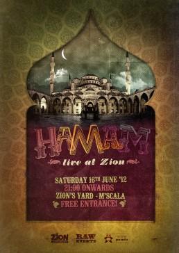 Hamam poster design