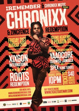 Iremember reggae event, Chronix and Zincfence redemption Toronto Canada