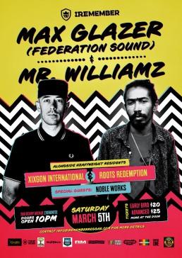 Iremember reggae event, Max Glazer and Mr. Williamz in Toronto Canada