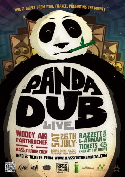 Bass Culture featuring Panda Dub poster design