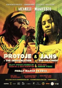 Iremember reggae event, Protoje & Jah9 in Toronto Canada