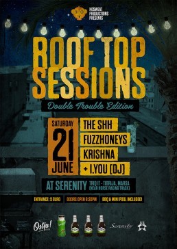 Serenity roof top sessions poster design