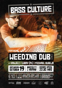 Bass Culture featuring Weeding Dub poster design