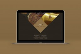 Lab 78 website design on mac book