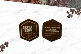 Business card design for Chocolate District Valletta Malta