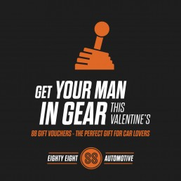 88 Automotive Valentines Day advert design