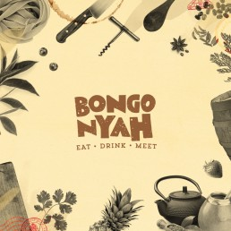 Bongo Nyah logo on collage background