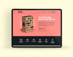 Website design for the Hoppy Xmas craft beer advent beer box 2019
