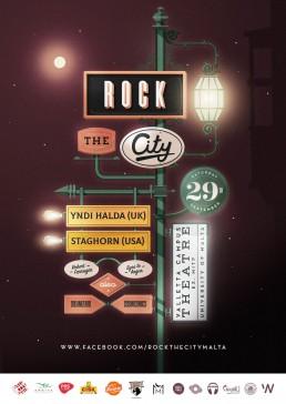 Poster design for Rock the City Malta