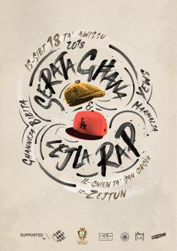 Poster design for Serata Ghana & Lejla Rap Zejtun Malta