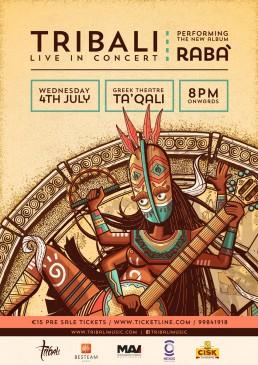 Poster design for Tribali album launch