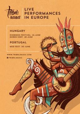 Poster design for Tribali European gigs