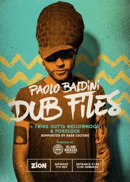 Poster design for Paolo Baldini Dubfiles at Zion, Malta
