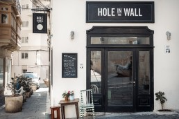 Exterior shot of Hole in the Wall bar