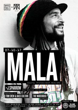 Poster design for Mala and J.Sparrow by Bass Culture Malta & FDM Crew