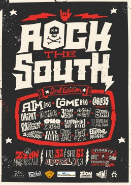 Poster design for Rock the South Malta
