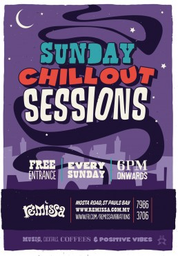 Poster design for Remissa chillout sessions