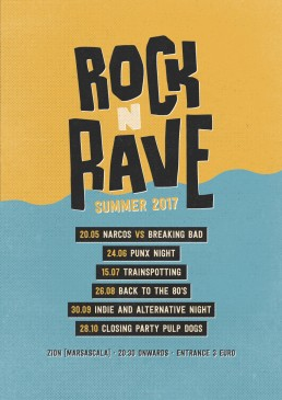 Poster design for Rock n Rave event at Zion, Malta
