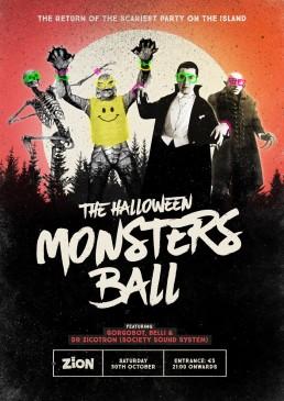 Poster design for Zion's Halloween Monster Ball