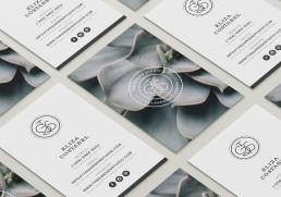 The Garden Studio business cards