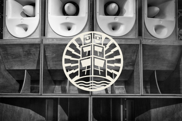 Island Rockers logo design on sound system photo