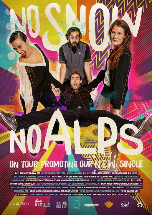 No Snow No Alps tour poster design