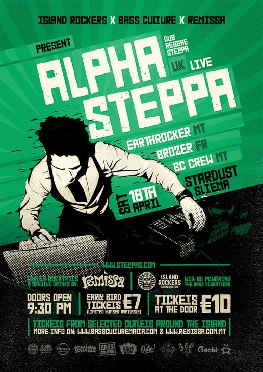 Bass Culture featuring Alpha Steppa poster design