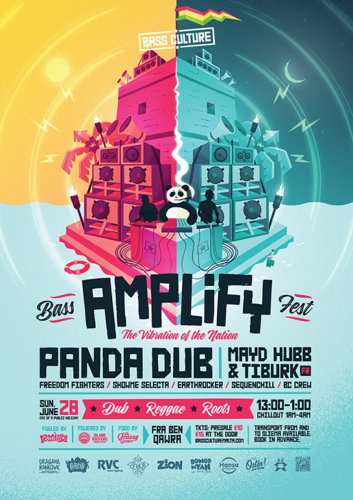 Amplify featuring Panda Dub, Mayd Hubb & Tiburk poster design