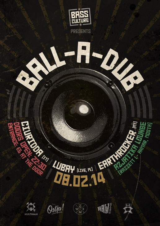 Ball-a-dub poster for Bass Culture