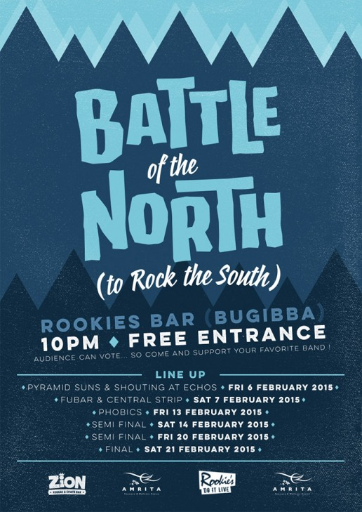Battle of the North to Rock the South poster design