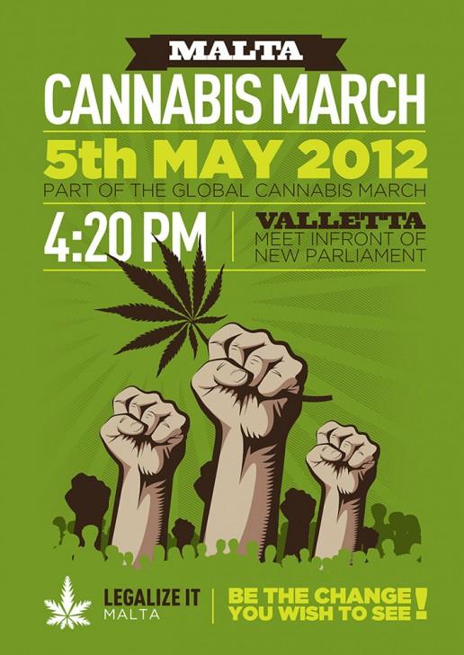 Malta Cannabis march 2012 poster design