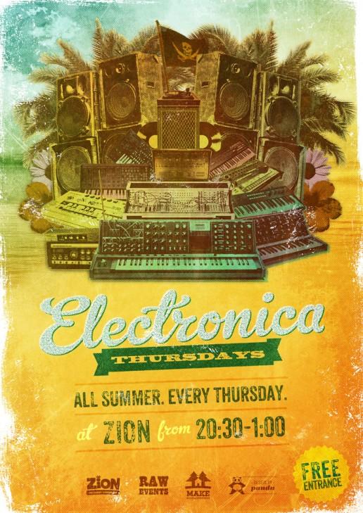 Electronica Thursdays poster design