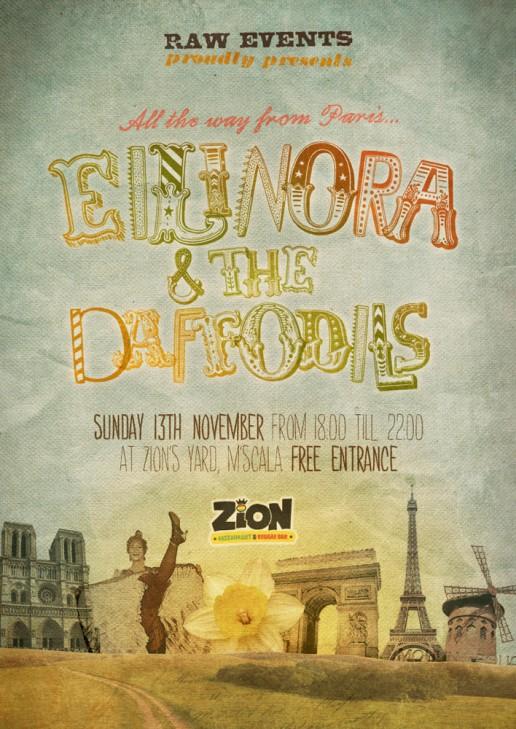 Eilinora & the Daffodils poster design