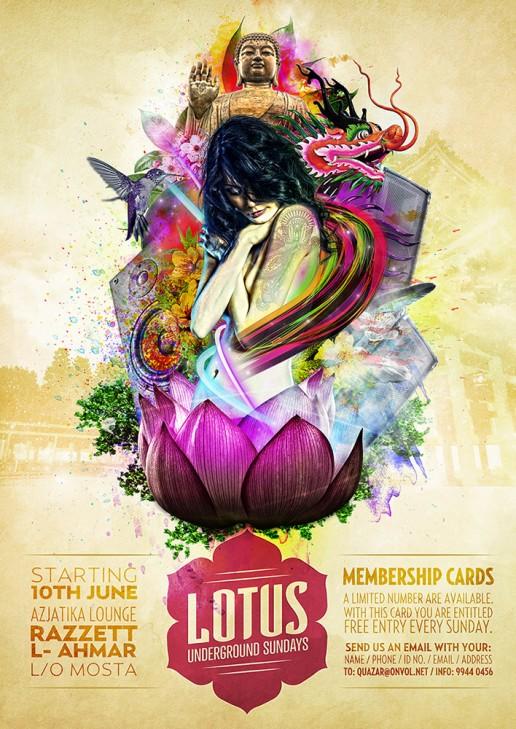 Lotus underground sundays poster design