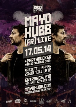 Bass Culture featuring Mayd Hubb poster design