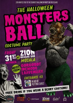 Halloween Monsters Ball poster design for Zion
