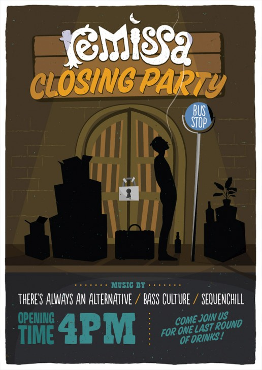 Remissa closing party poster design