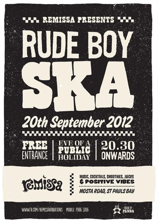 Poster design for ska event at Remissa