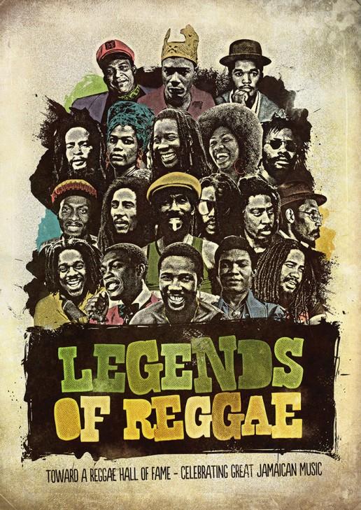 Legends of Reggae poster edition for the International Reggae Poster Contest.