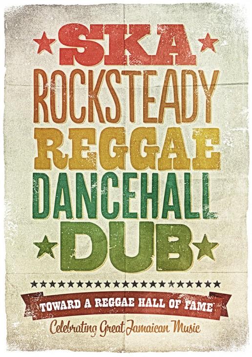 Ska Rocksteady Reggae Danchall Dub poster edition for the International Reggae Poster Contest.