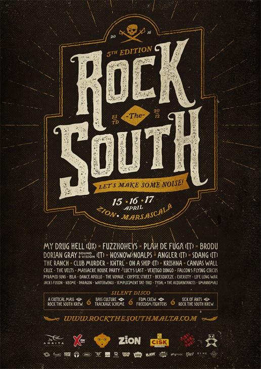 Rock the South Malta 2016 poster design